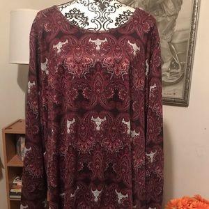 Paisley burgundy top